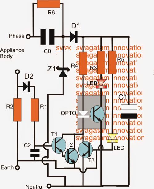 Earth Leakage Alarm Circuit