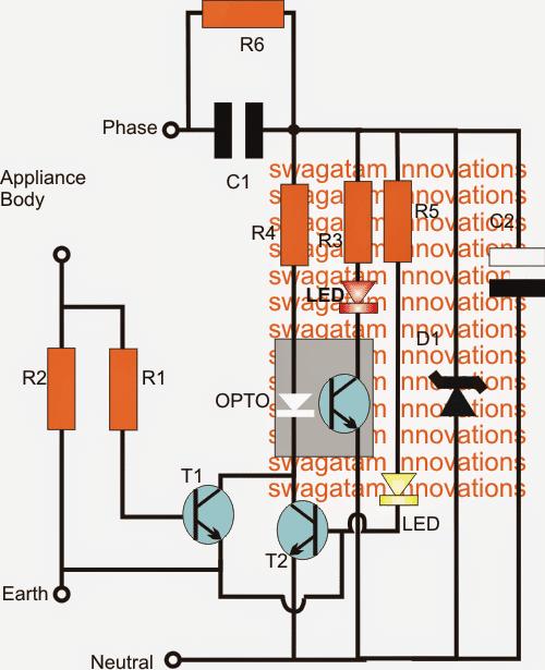 Earth Leakage Indicator Circuit