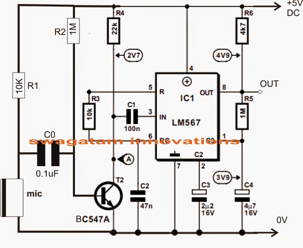 3 Sound Activated Switch Circuits Explained