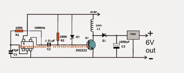 0.6V to 6V/12V Boost Converter Circuit