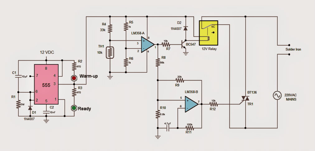 2 Useful Energy Saver Solder Iron Station Circuits