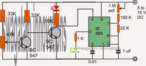 Flashing LED Battery Low Indicator Circuit