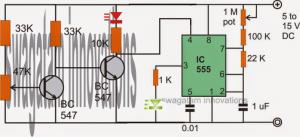 Flashing LED Battery Low Indicator