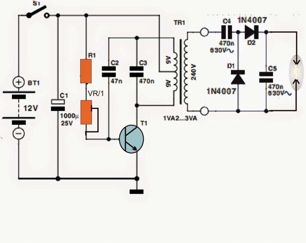 high voltage arc generator