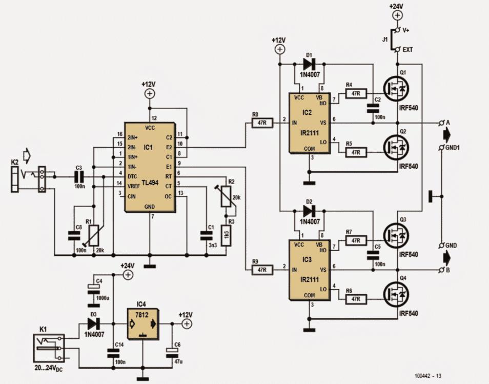 circuit of ultrasonic directive speaker system or parametric speaker