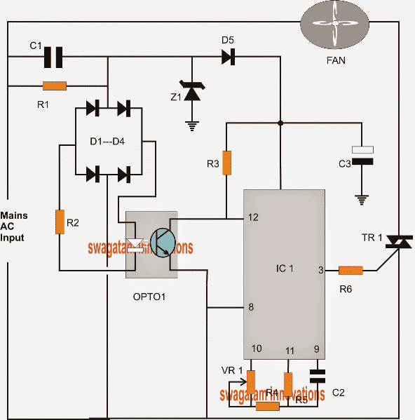 pwm schematic    pwm    controlled fan dimmer switch circuit     pwm    controlled fan dimmer switch circuit