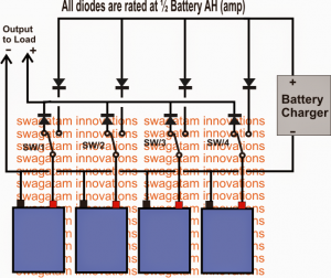 Parallel Battery Charger with Changeover