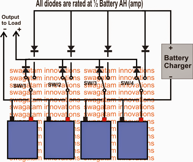 Parallel battery charger circuit
