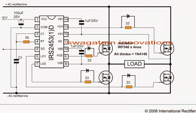 5kva Ferrite Core Inverter Circuit – Full Working Diagram with Calculation Details