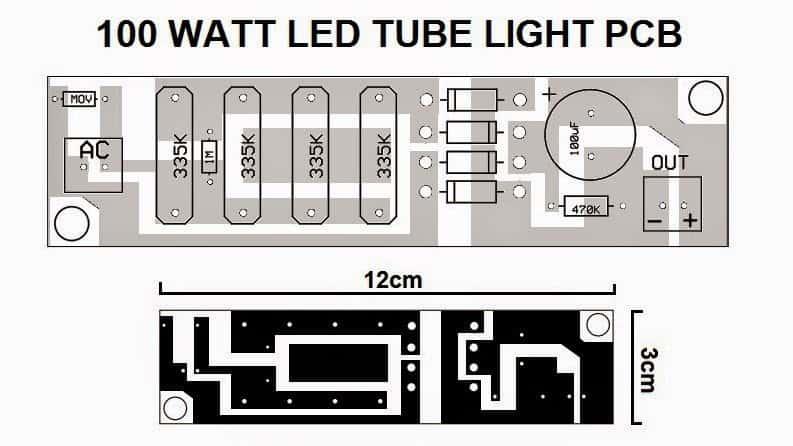 100 watt PCB layout