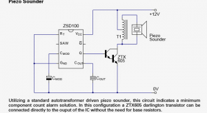 Alarm Signal Generator IC ZSD100 Datasheet, Application
