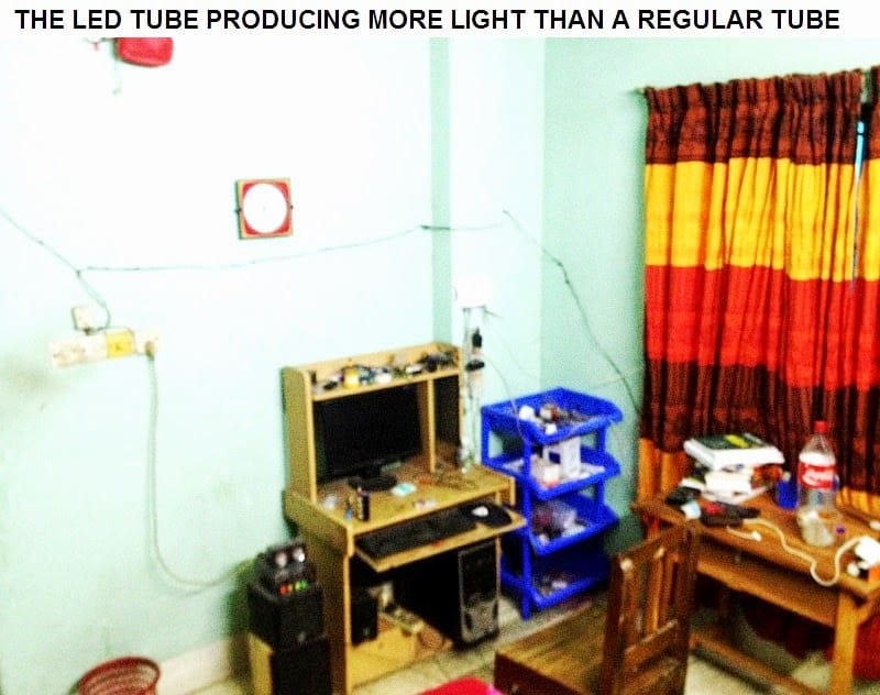 LED tube is more brighter than normal CFL tubelight
