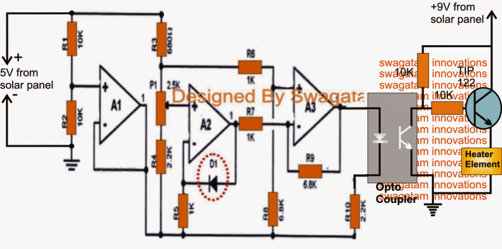 Simple Greenhouse Temperature Regulator Circuit