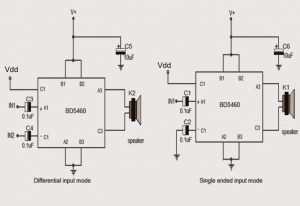 3.7 V Class-D Speaker Amplifier for Differential Analog Input