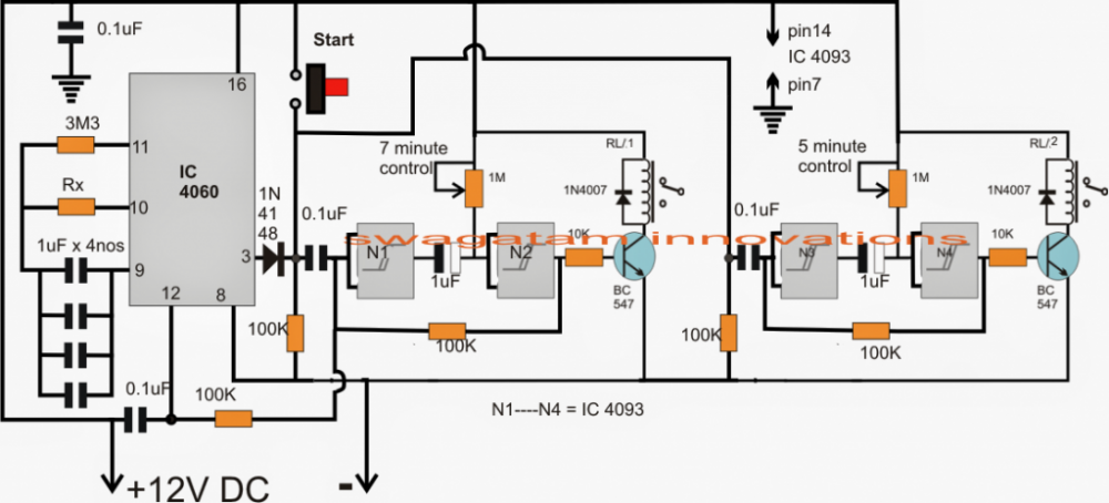 Aquarium Fish Feeder Timer Controller Circuit