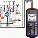 Cellphone Controlled Car Starter Circuit