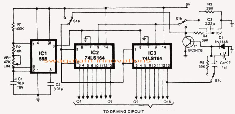 Knight Rider LED Scanner Circuit - Mustang Type