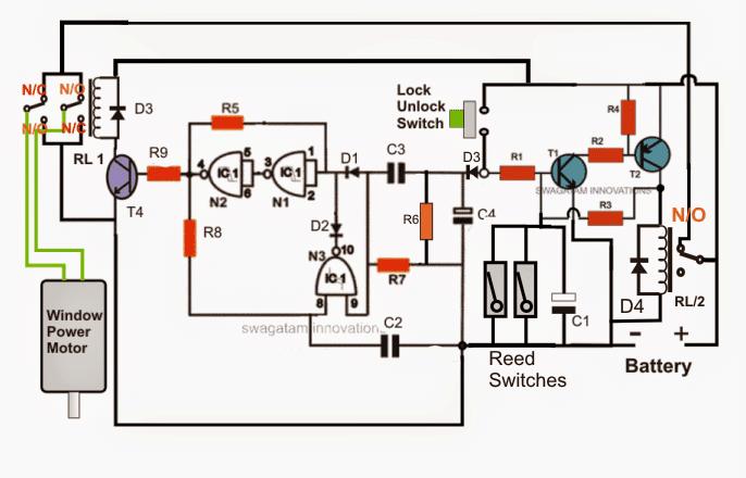 Car Power Window Controller Circuit relay sensor details