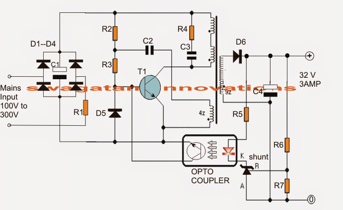 32v  3 amp led driver circuit