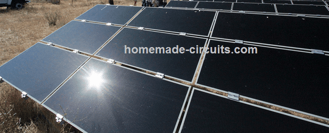 solar panel glint improvement