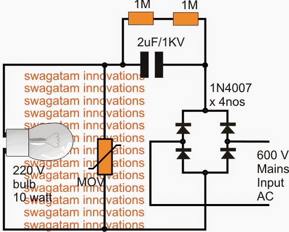 how to test MOV in mains circuits for surge protection