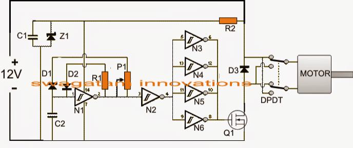 Automatic PWM Door Open/Close Controller Circuit