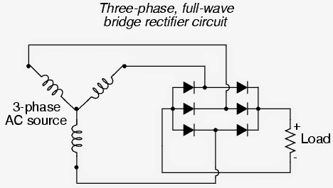 3 phase rectifier DC circuit
