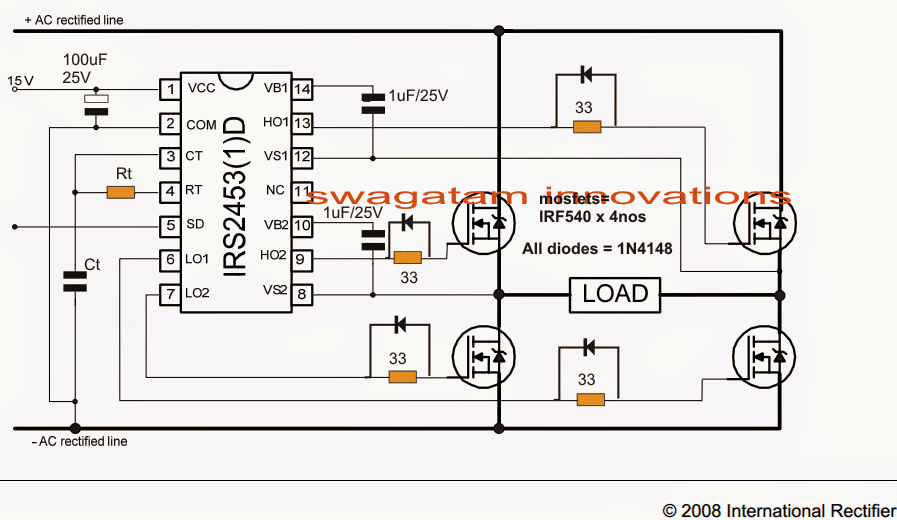 Full bridge mosfet driver circuit