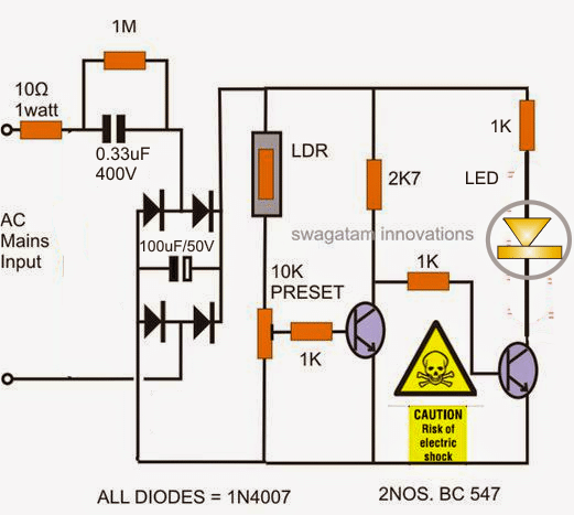 automatic led candle light circuit homemade circuit projectsautomatic led candle light circuit