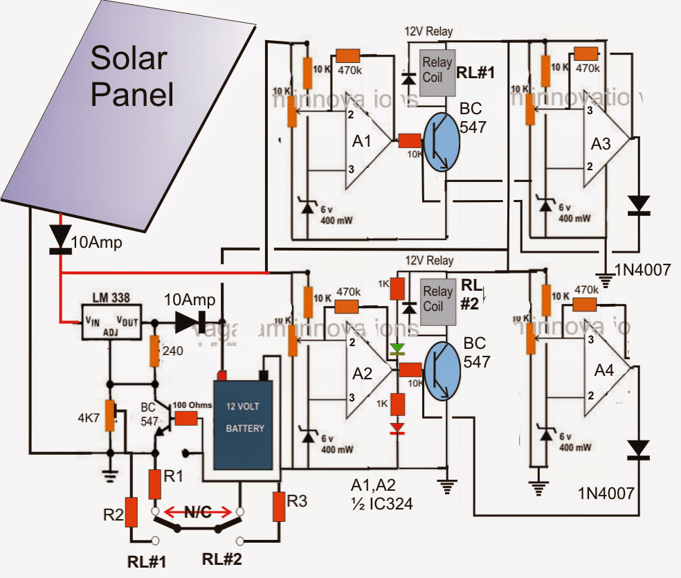 Simple Solar Panel Circuit Birdhouse Light Diagram
