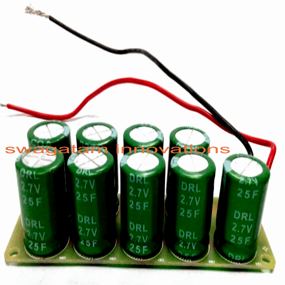 super capacitor hand cranked charger circuit using bridge rectifier