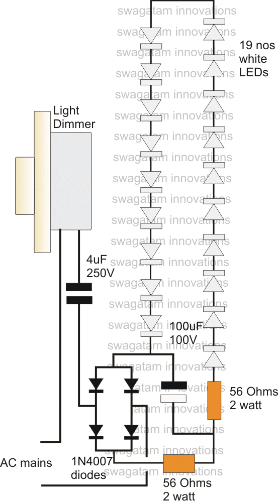 high current transformerless power supply using dimmer switch led bulb circuit diagram led bulb circuit diagram led bulb circuit diagram led bulb circuit diagram