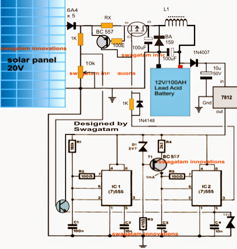 Self Optimizing Solar Battery Charger Circuit Homemade