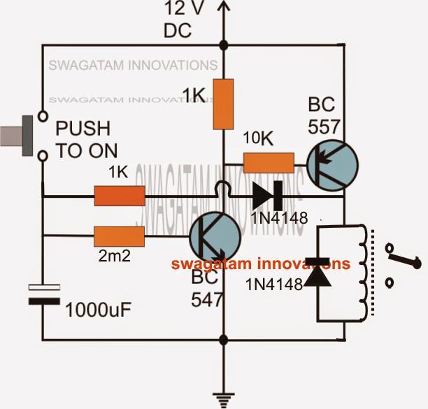 Long Duration Timer Using Transistors