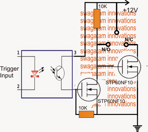 SPDT Solid State Relay Circuit using Mosfets - For Heavy ... on