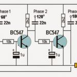 3 Phase Sine Wave Generator Circuit