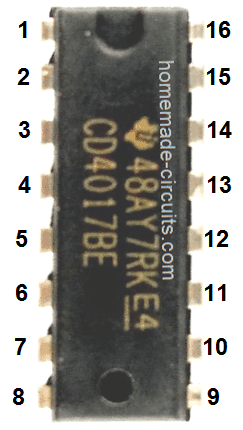 IC 4017 decade counter image