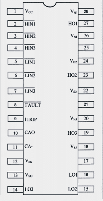 IRS 2330 IC pinout diagram