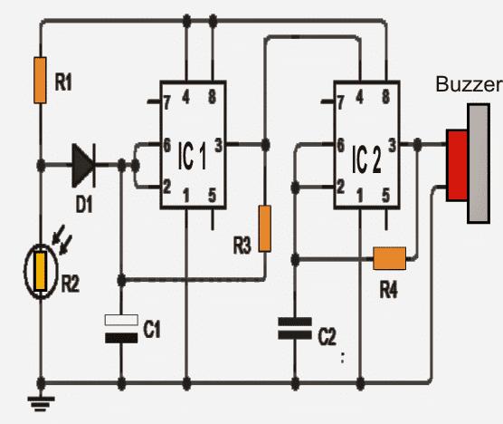 Refrigerator Door Open Alarm Circuit