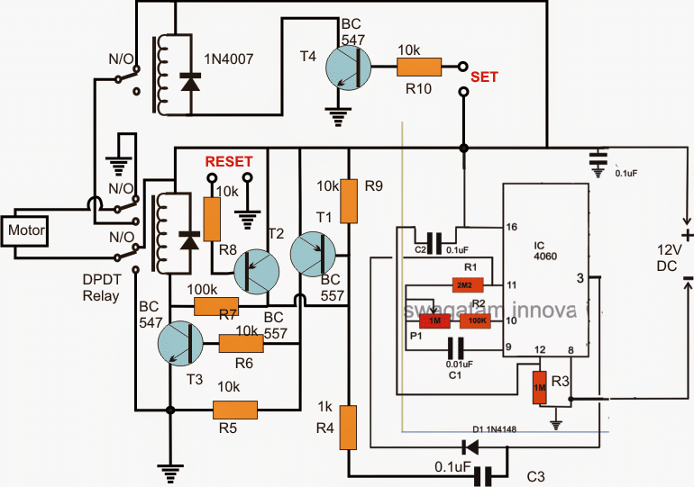 Reverse forward motor circuit for incubator for Forward reverse dc motor control circuit