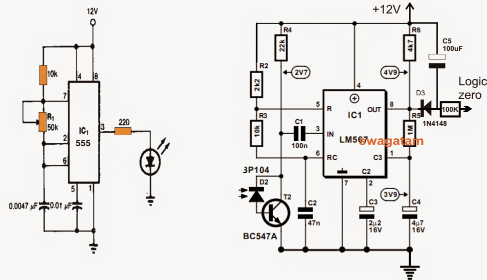 Tuned Infrared Ir Detector Circuit