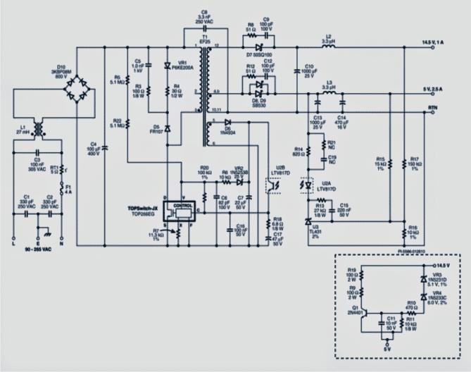 lcdsmpscircuit 1 - SMPS Circuit for LCD Monitors