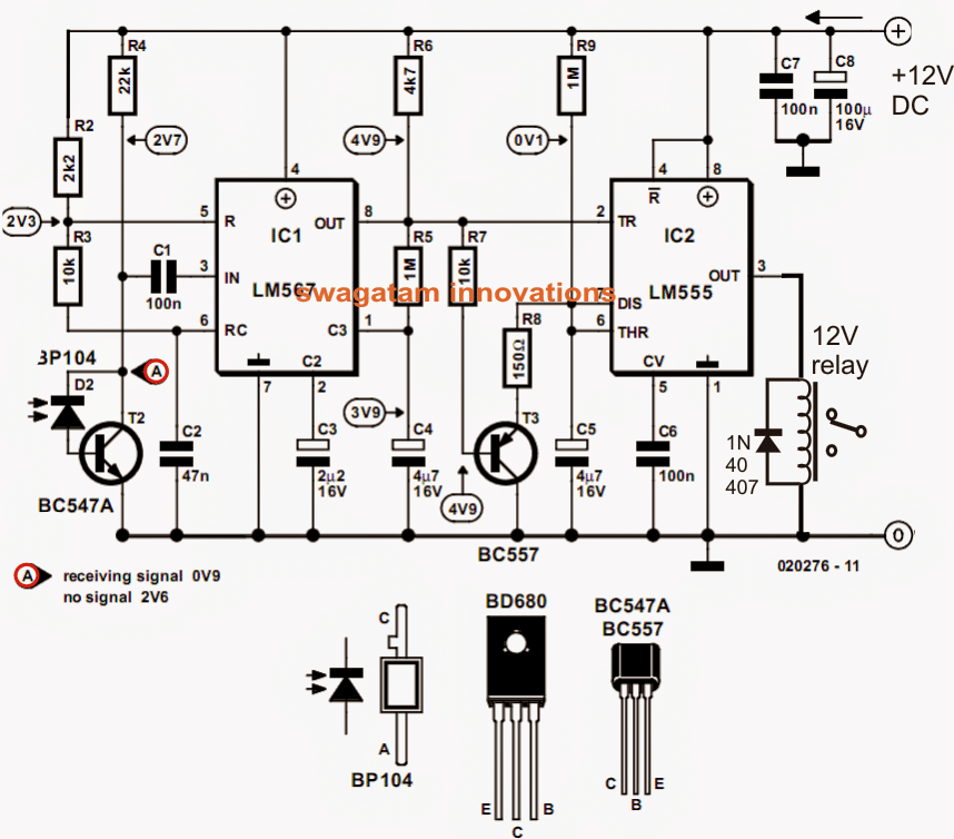 model locomotive infrared controller circuit