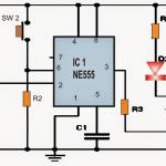 Set Reset Circuit using IC 555