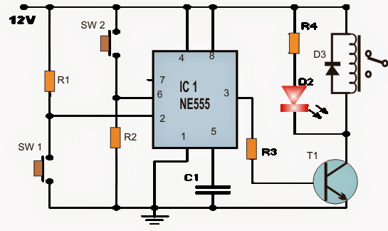 Set Reset Circuit Using Ic 555