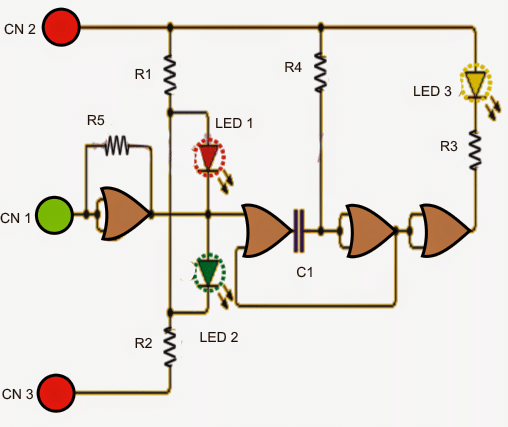 simplelogicprobecircuit - Logic Level Indicator Circuit