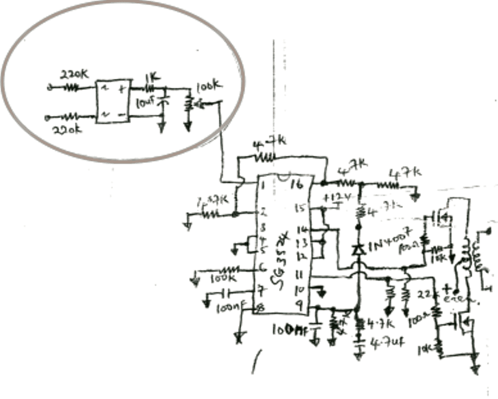 input car amplifier diagram