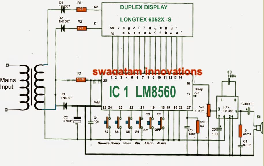 wall clock wiring diagram wiring diagram save transformer wiring diagrams wiring diagram of electronic clock #2