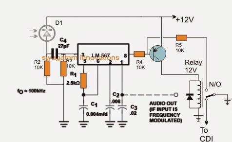 infrared safe lock circuit