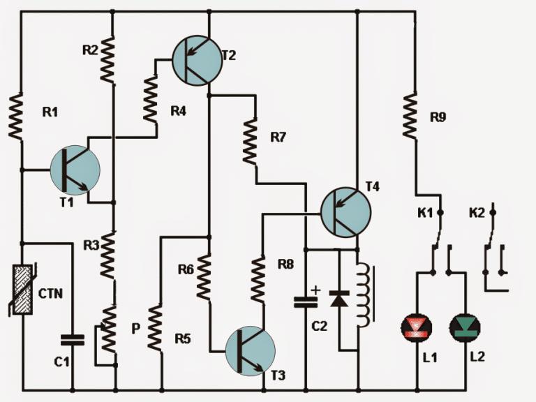 Simple Thermostat Using Transistors